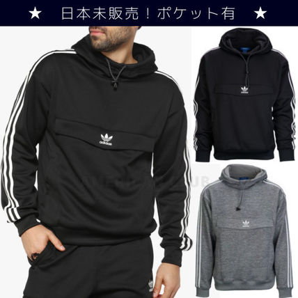 de29f235cb2 ... adidas Hoodies Street Style Bi-color Long Sleeves Plain Hoodies ...
