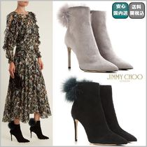 Jimmy Choo Suede Pin Heels Ankle & Booties Boots