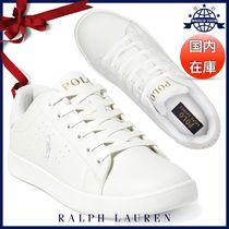 Ralph Lauren Round Toe Rubber Sole Lace-up Casual Style Unisex Faux Fur