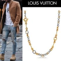 Louis Vuitton Monoglam Street Style Bi-color Silver Necklaces & Chokers