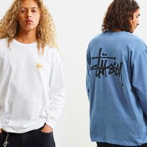 STUSSY Long Sleeves Plain Cotton Long Sleeve T-Shirts