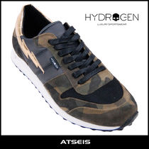 Hydrogen Camouflage Suede Street Style Sneakers
