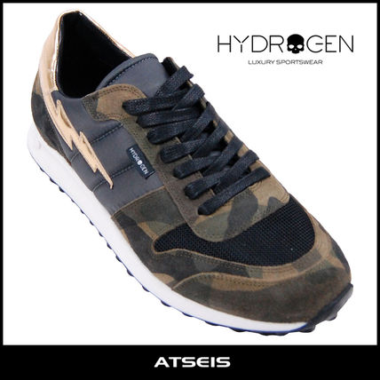 Camouflage Suede Street Style Sneakers