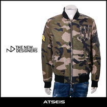 The New Designers Short Camouflage Street Style MA-1 Bomber Jackets