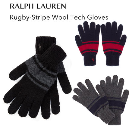 POLO RALPH LAUREN Stripes Wool Smartphone Use Gloves