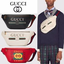 GUCCI Unisex Leather Hip Packs