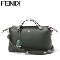 FENDI BY THE WAY Regular Boston Bag With Snake Skin / Grass Green