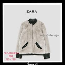 ZARA Short Faux Fur Coats