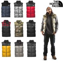 THE NORTH FACE Nuptse Short Camouflage Street Style Plain Down Jackets