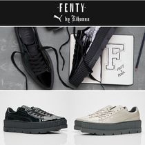 PUMA FENTY Round Toe Casual Style Faux Fur Street Style Collaboration
