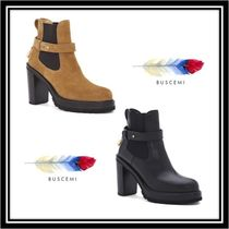 BUSCEMI Rubber Sole Casual Style Plain Leather Ankle & Booties Boots