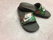 Nike BENASSI Flower Patterns Casual Style Street Style Shower Shoes