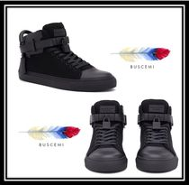 BUSCEMI Rubber Sole Casual Style Blended Fabrics Plain Leather