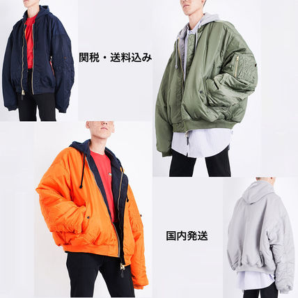 VETEMENTS Plain MA-1 Oversized Bomber Jackets