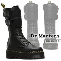 Dr Martens Round Toe Lace-up Casual Style Street Style Plain Leather