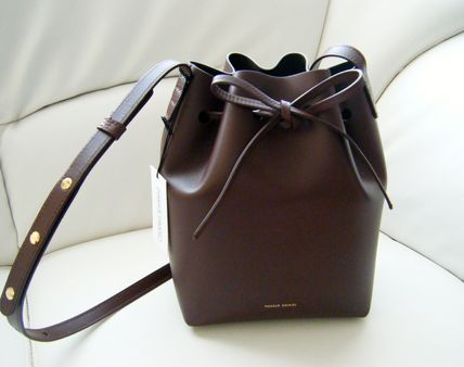 Plain Leather Purses Bold Shoulder Bags