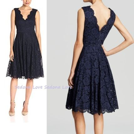 Vera Wang 2019 Cruise Flower Patterns Party Style Lace Dresses