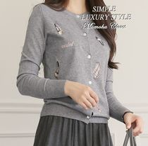 Long Sleeves With Jewels Cardigans