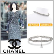 CHANEL Diamonds & crystal strass in silver necklace