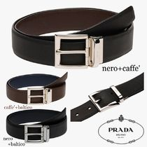PRADA Plain Leather Belts