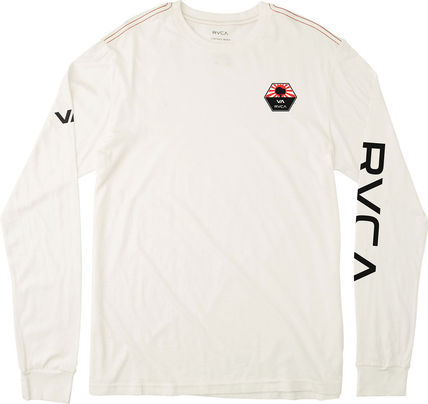 RVCA Long Sleeve Unisex Street Style U-Neck Long Sleeves Plain Cotton 13