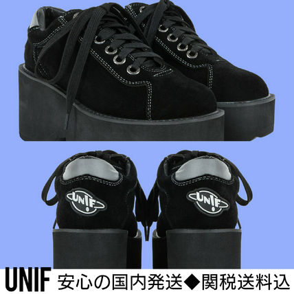UNIF Clothing Plain Leather Low-Top Sneakers