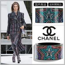 CHANEL 17/18 AW diamond in star decorated bangle