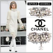 CHANEL 17/18 AW pearl cluster bracelet