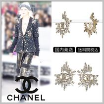 CHANEL 17/18 AW CC logo clip on earrings