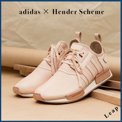 adidas NMD Street Style Collaboration Plain Leather Sneakers