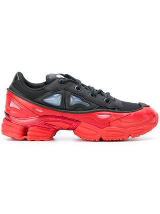 RAF SIMONS Street Style Collaboration Bi-color Leather Sneakers