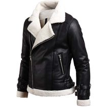 Short Faux Fur Studded Biker Jackets