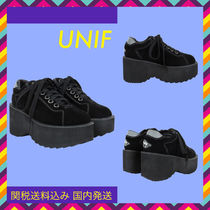 UNIF Clothing Casual Style Plain Leather Loafer Pumps & Mules