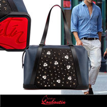 Christian Louboutin Studded A4 Leather Boston Bags