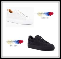 BUSCEMI Casual Style Plain Leather Low-Top Sneakers