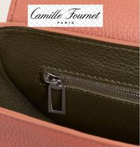 Camille Fournet Leather Party Style Shoulder Bags