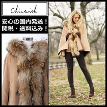 Chicwish Fur Plain Medium Ponchos & Capes