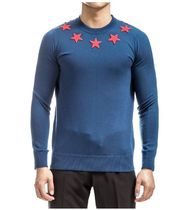 GIVENCHY Crew Neck Star Wool Long Sleeves Knits & Sweaters