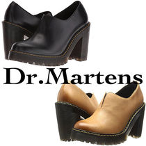 Dr Martens Casual Style Plain Leather Block Heels Ankle & Booties Boots