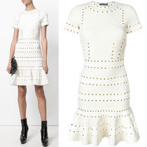 alexander mcqueen 17-18 AW AM 257 EYELET MINI DRESS