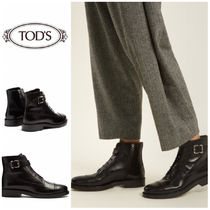 TOD'S Casual Style Leather Ankle & Booties Boots