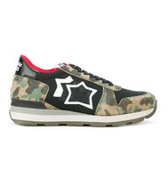 Atlantic STARS Camouflage Suede Party Style Low-Top Sneakers