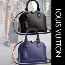 Louis Vuitton ALMA 2WAY Plain Leather Elegant Style Shoulder Bags