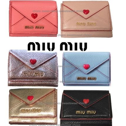 Heart Leather Folding Wallets
