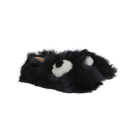 Moccasin Round Toe Fur Flats