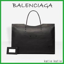 BALENCIAGA CITY Blackout Calfskin XL Tote