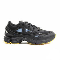 RAF SIMONS Street Style Collaboration Bi-color Plain Leather Sneakers
