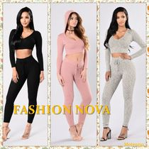 FASHION NOVA Short Casual Style Long Sleeves Plain Cotton Turtlenecks