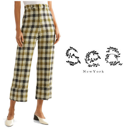 Gingham Other Check Patterns Casual Style Tweed