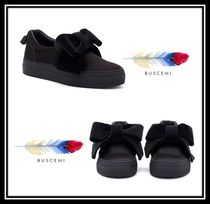 BUSCEMI Rubber Sole Casual Style Plain Slip-On Shoes